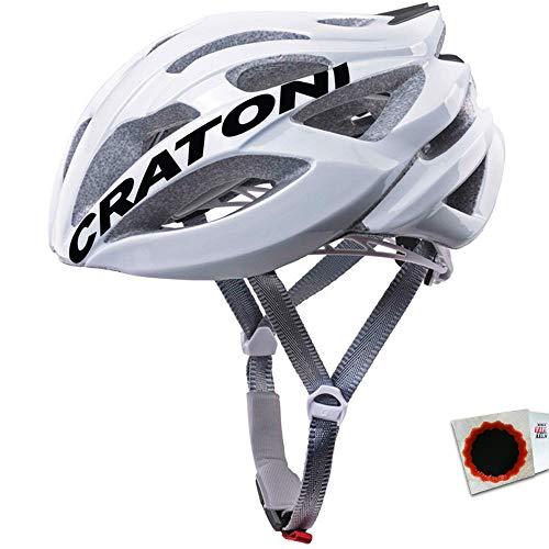 Cratoni Fahrradhelm C-Bolt Road Gr. L/XL 59-62cm Glanz Weiss schwarz Fahrrad -