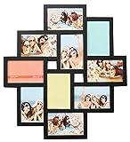 Ideal Gallery Bilderrahmen in Weiß Schwarz Braun für 10 Fotos 10x15 Foto Collage: Farbe: Schwarz