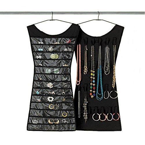 SHOP ONLINE Black New-Dress Shape double sided -Jewellery Organizer