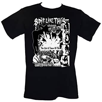 SPiT LiKE THiS Suicide Kid T-SHIRT Size S-4XL (goth uk glam punk metal rock) (S)