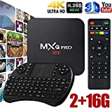 Cewaal (EU Pulg) Android 6.0 TV Box RK3229 Quad-Core 4K Smart TV Box 2 + 16 GB Set-Top-Box + fliegende Maus für MXQ PRO