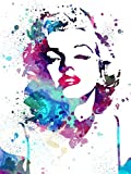 """Love st - Marilyn Monroe Artistic Watercolor like Posters for Home & Office 12x18"""""""