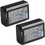 NP-FW50 Battery, BPS 2pcs Fully Decoded NPFW50 Battery for Sony a6000 a6300 a6500 a5000 a5100 a3000, Alpha a7, a7s, a7s ii, a7r, a7rii, Nex 5/6/7, ALT a33 a35 a37 DSLR Cameras