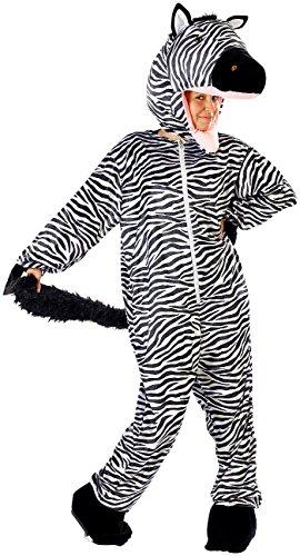 infactory Fasnacht-Kostüme: Halloween- & Faschings-Kostüm Zebra (Karneval-Kostüme Ganzkörper)