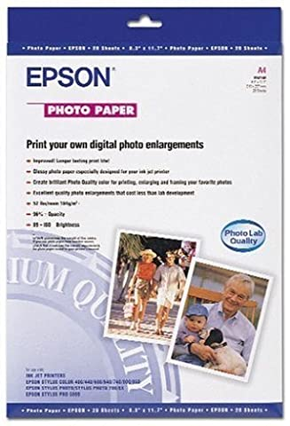 Epson C13S041140 Supports d'impression Jet d'Encre Papier Photo A4 194g/m² 20 f.