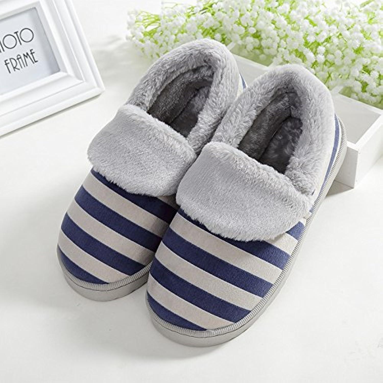 Y-Hui zapatillas de algodón de hombres amantes de pantuflas de invierno Home Furnishing gruesos zapatos antideslizante