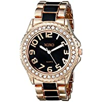 XOXO Women's XO5473 Rose Gold with Black Epoxy Analog Bracelet Watch