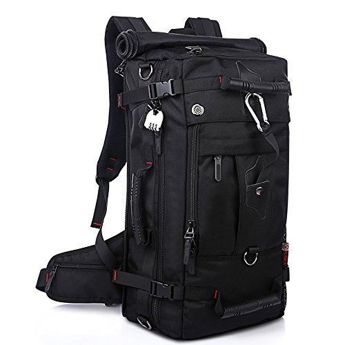 YUHAN Zaino da escursionismo (più di 45 L), Black (nero) - 0607128447580