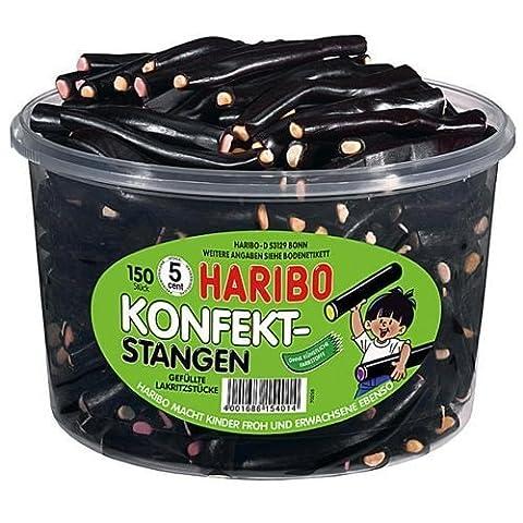 Haribo Konfektstangen - gefüllte Lackritzstücke 150 Stück