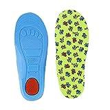 Kinder Bogen Full Pad | BK Tuch und PU Gel Arch Support Einlegesohlen | Dauerhaft Kinder Einlegesohlen | rutschfest Kinder Sport Einlegesohlen (Size24-27)