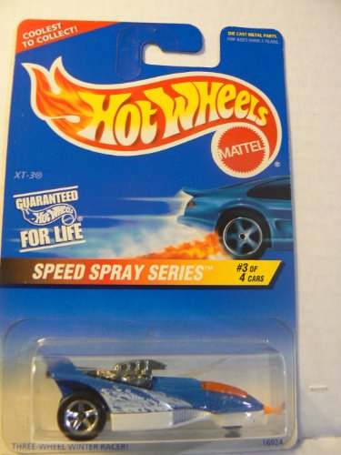 Preisvergleich Produktbild Hot Wheels Speed Spray Series #3 of 4 Cars XT-3 Collector #551 on Coolest to Collect Card by Hot Wheels