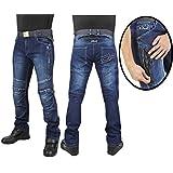 OJ Breath Man Jeans 4 Saisons Tissu Externe en Denim Extensible, Bleu, 48