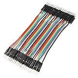 Pixnor 40pcs 10cm 2,54 mm mâle couleur Dupont fils câbles pour Arduino Breadboard
