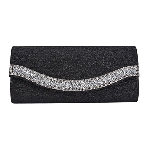 Hautefordiva , Damen Clutch CB088 Gold M CB106 Black