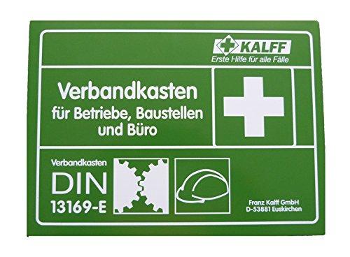 Kalff 23509 Betriebsverbandkasten DIN 13169-E, Metall, Groß