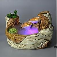 pengweiFuente de agua adornos de artesanía regalos decoraciones para el hogar de escritorio Continental , 1