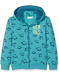 NAME IT Jungen Sweatshirt Nitfenkey Swe Card W/ Det. Hood Bru Mini