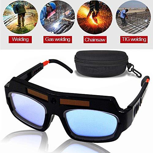 MAYLINE Schweißbrille, Schutzbrille für Helme, Augen, Sonnenbrille, automatische Verdunkelung, Schweißbrille, professionelle PC-Brillengläser zum Schweißen, Anti-Flog-Schutzbrille, schwarz