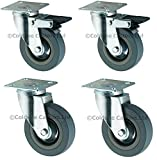 4 x RUBBER CASTORS/CASTERS WHEELS 50 mm
