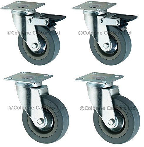en caoutchouc Set de roulettes en caoutchouc 10,2cm (100mm), Ensemble de roues