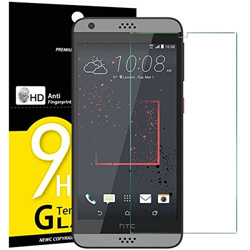 NEW'C Lot de 3, Verre Trempé pour HTC Desire 530, Film Protection écran - Anti Rayures - sans Bulles d'air -Ultra Résistant (0,33mm HD Ultra Transparent) Dureté 9H Glass