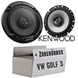 VW Golf 3 - Lautsprecher Boxen Kenwood KFC-S1766-16cm 2-Wege Koax Auto Einbauzubehör - Einbauset