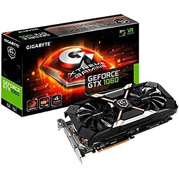 Gigabyte Technology GV-N1060XTREME-6GD GeForce GTX 1060 Xtreme Gaming 6GGeForce GTX 1060 Scheda grafica, NVIDIA GeForce GTX 1060 6GB, nero