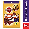 Pedigree Meat Jerky Adult Dog Treats, Roasted Lamb Flavour - 80 g Pouch