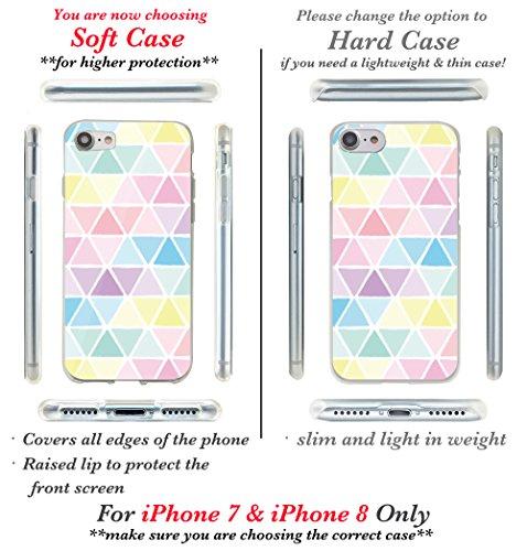 iPhone 7, iPhone 8, iPhone X Coque, iPhone 7Plus, iPhone 8Plus Coque, Casesbylorraine mignon Motif Coque souple pour Apple iPhone X, iPhone 7, iPhone 8, iPhone 7Plus, iPhone 8Plus P73