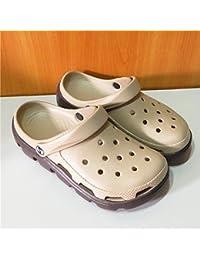 Xing Lin Sandales Pour Hommes Trou De Sport Chaussures Pour Hommes Chaussures De Plage Tendance Jardin Télévision Baotou Chaussures Antidérapantes Pour Hommes Sandales Creux Gris M12