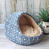 Scltid Gatto Letto Igloo Grotta Sacco a Pelo Animale Domestico Caldo Cuscino metà Coperta a Forma di Pantofola Camera da Letto Gatto Cucciolo Cane-1_S
