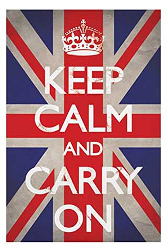 Empire Poster Keep Calm Drapeau du Royaume-Uni accessoires inclus 2 Leisten klar
