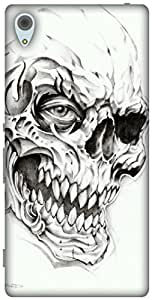 The Racoon Lean printed designer hard back mobile phone case cover for Sony Xperia Z3 Plus. (Skulls)