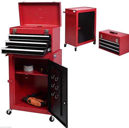 Generic. Cab Garage Mechaniker R rot 5drawer rot–GA abschließbar Truhe EY Cab Tool Box Aufbewahrungsbox Est Schloss Trolley Schrank OL (Stahl Brust-tool-box)
