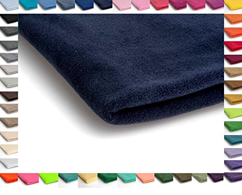 Polar Antipilling Fleece Stoffe 200 g / m² von allerbester Qualität erhältlich in 50 Farben 50 x 155 cm (Nr 18 Navy Blau) (Stoff Fleece)