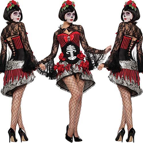 Kostüm Candy Skull - FIREWSJ Halloween Kostüm Dekoration Kostüm Candy Skull Halloween Dress Up