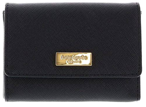 Kate Spade Newbury Lane Large Holly Saffiano Leather Card Case Wallet (Black) -