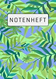 Notenheft: DIN A4 Block | 120 Seiten | Blanko Notenblock | Für Anfänger und Fortgeschrittene | Große Lineatur | Musik Schreibheft | Leere Notensysteme