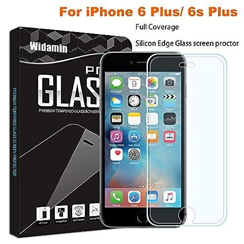 iPhone 6S/6 Plus Protection d'écran en verre trempé, [widamin] plein