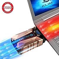 KLIM™ Cool + Refroidisseur PC Portable en Métal - Le Plus Puissant - Extracteur d' Air USB pour Refroidissement Immédiat - Ventilo - Version 2019