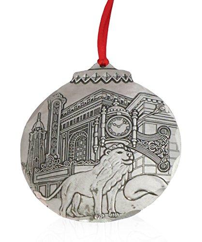 Wendell August Chicago Collage Ornament aus Metall, handgefertigt in den USA Forge