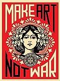 Reproduction Shepard Fairey 'Make Art Not War!' (46cm x 61cm)