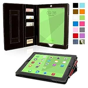 Snugg–Étui en cuir avec fonction support et stylet capacitif pour iPad mini, couleur BLEU noir noir iPad 3 & 4 Executive
