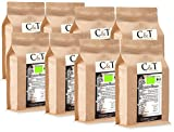 C&T Bio Espresso Crema | Cafe 8 x 1000 g ganze Bohnen Gastro-Sparpack im Kraftpapierbeutel Kaffee für Siebträger, Vollautomaten, Espressokocher