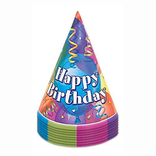 Unique Party 11351 - Cappelli per Festa Brillante Compleanno, Confezione da 8