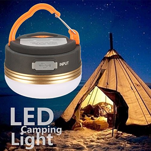 5174PWCNcqL. SS500  - Camping Light, GLISTENY Waterproof tent Light outdoor LED Lantern with 1800mAh Power Bank, 5V USB Rechargeable Built-in Battery, Magnetic Portable with 3 Modes for Camping, Hiking, mountaineering
