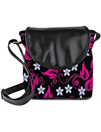 Snoogg Grey Pattern Pink Womens Sling Bag Small Size Tote Bag