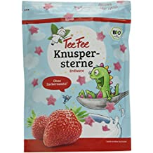 TeeFee Bio Knuspersterne - Erdbeer - Müsli Topping und Knabbersnack, 5er Pack (5 x 175 g), ohne Zuckerzusatz