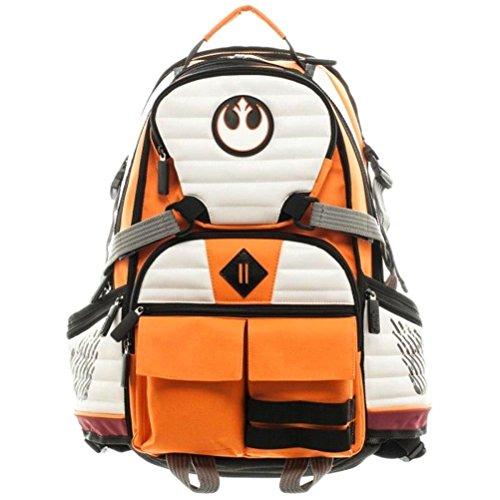 Offizielle Star Wars Rebel Squadron Pilot Laptop Rucksack Tasche - Orangen Schwarz