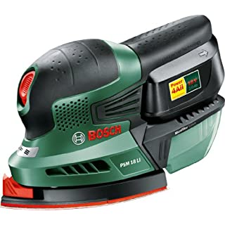 Bosch PSM 18 LI Cordless Lithium-Ion Multi-Sander (1 x 18 V Battery, 2.0 Ah) by Bosch